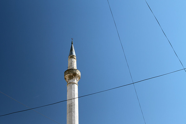 The minaret of the Leaden Mosque, Berat, Albania