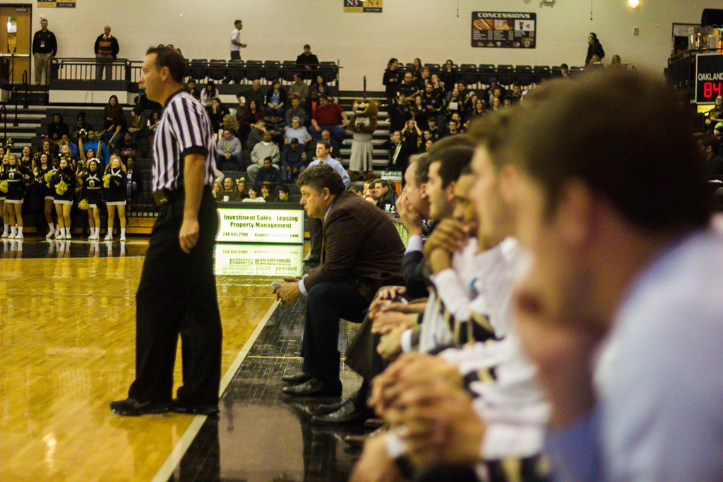 . Oakland University Head Coach Greg Kampe. Photo by Dylan Dulberg