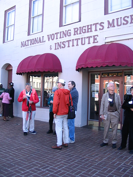 Princeton group at Voting Rights Museum - Margaret Miller