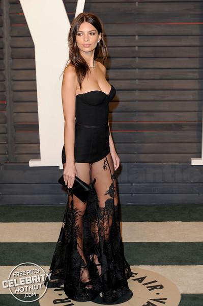 Emily Ratajkowski Wears Revealing Steven Khalil Dress in LA