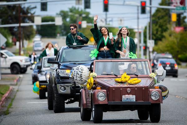 Port Angeles High School Graduation Parade 2020