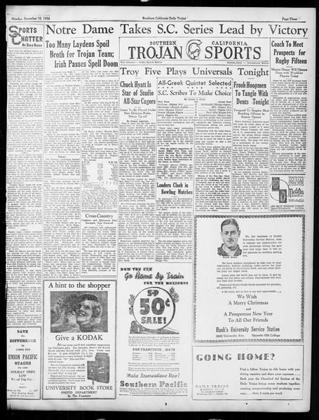Daily Trojan, Vol. 26, No. 53, December 10, 1934