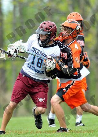 Boys JV lacrosse - Rockford at Okemos - May 15