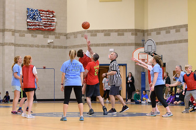 Sixth Grade v Faculty Basketball 2019