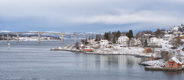 Finssnes, one of the many ports where the Hurtigruten stops.