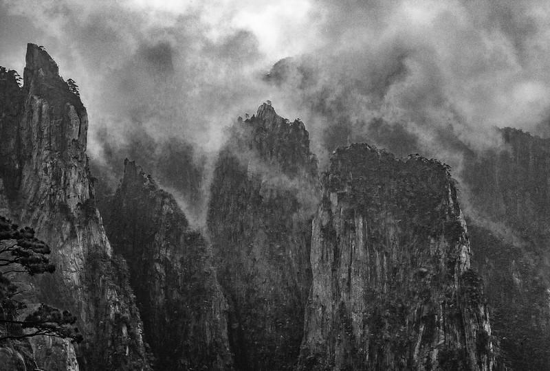 """Huangshan. Never Ending Fog. 24""""x 16""""."""