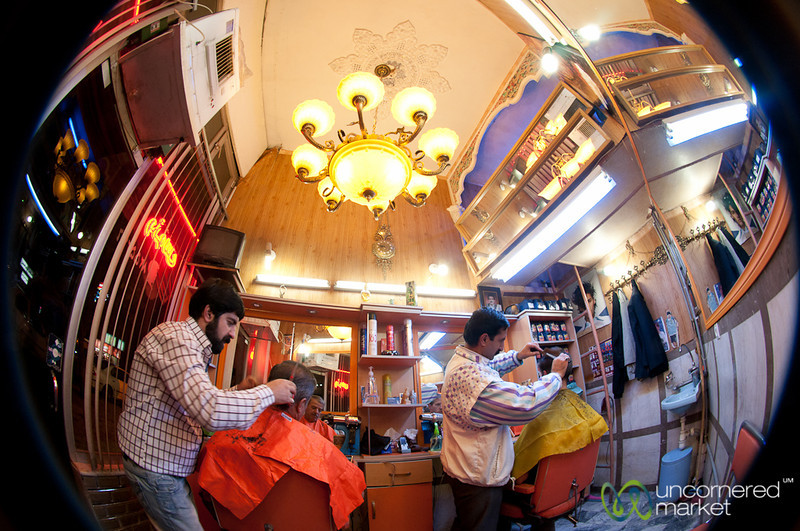 Iranian Barber Shop - Hamadan, Iran