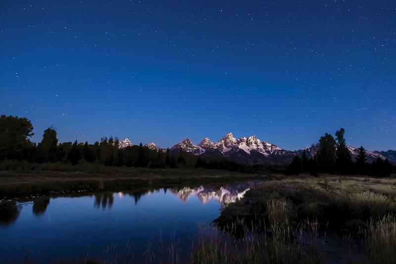 Twilight at Schwabacher's Landing - Grand Teton National Park