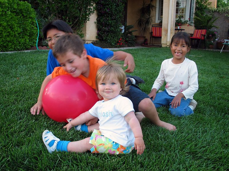 5/18 - Playing with Cedric, Sam and Hannah
