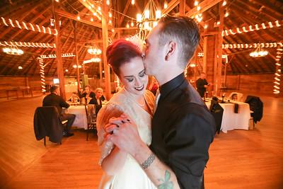 First Dance Reception- Lindsey & Dan O'Brien- St.- The Inn At The Round Barn Farm, Waitsfield VT Wedding Photographer