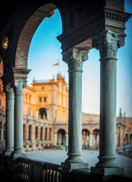 Columns, Plaza de España, Seville, Spain