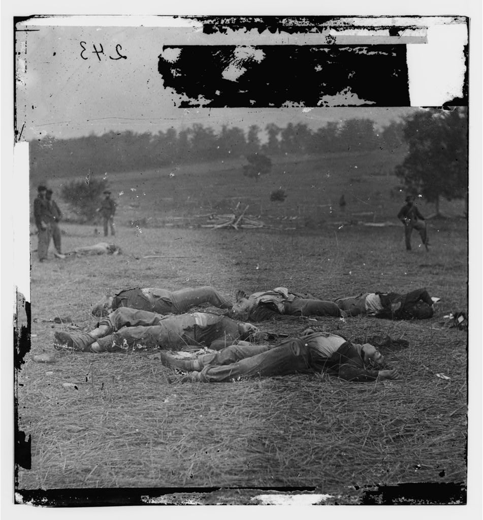 . Gettysburg, Pennsylvania. Federal dead on the right of the Federal lines, killed on July 1  - Library of Congress Prints and Photographs Division Washington, D.C.
