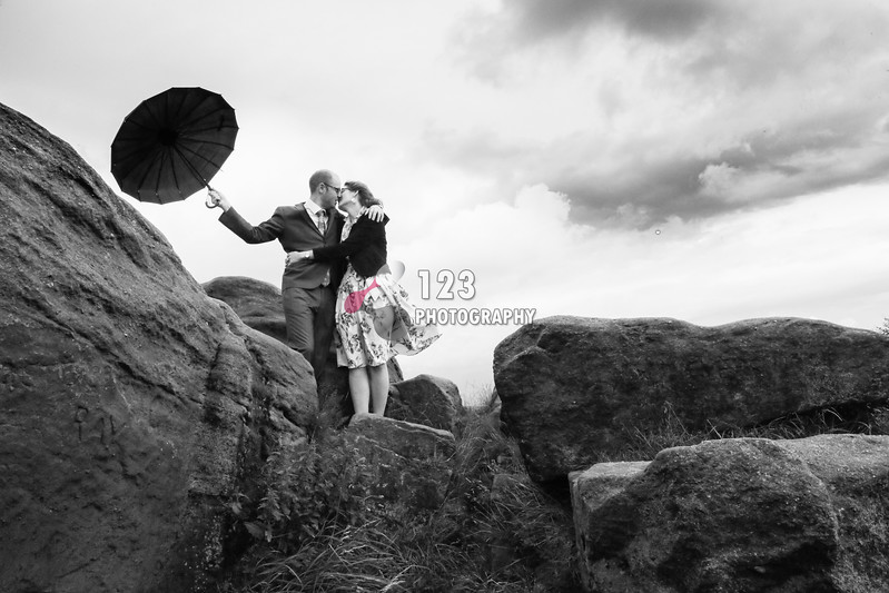 Mila and Cédric's engagement photography Otley Chevin