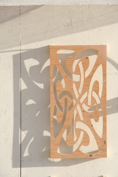 Flourish and shadow