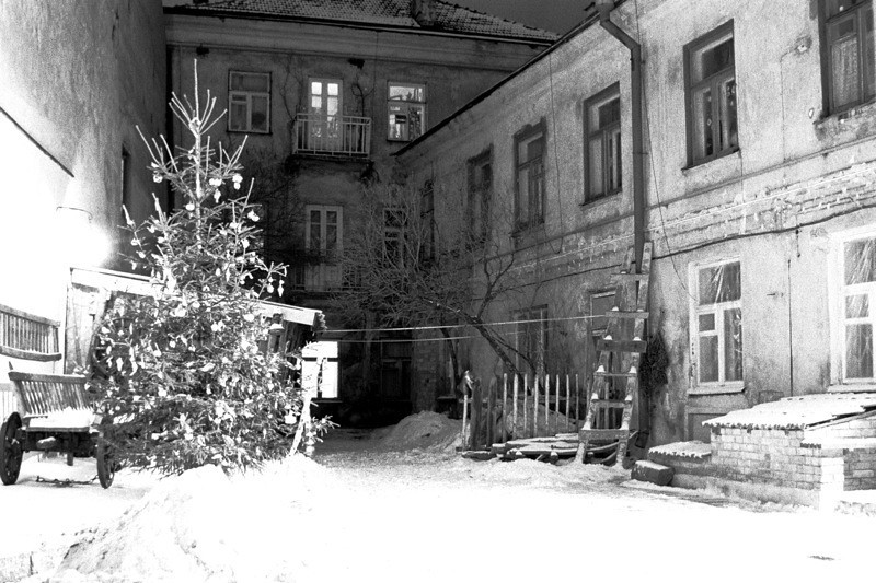 Artist's Courtyard at Christmas - Vilnius, Lithuania