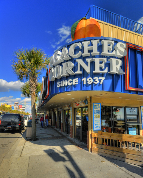 The new exterior signage at Peaches Corner in Myrtle Beach, South Carolina on Thursday, February 2, 2012. Copyright 2012 Jason Barnette