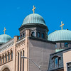 "<a href=""http://www.stgeorgestoronto.org/index.html"" target=""_blank"">St George's Greek Orthodox Church</a> North & south domes with larger central dome"