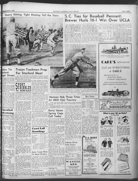 Daily Trojan, Vol. 30, No. 126, May 01, 1939