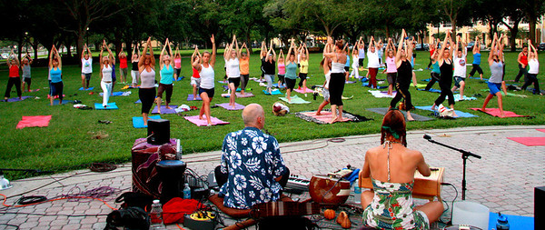 Sunrise Yoga In the Park, St Pete, Fl