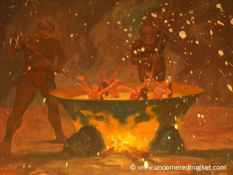 Fiery Buddhist Painting - Mandalay, Burma