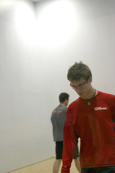 Steven Stewart walks to the back court after a tuff rally in his Men's Open match.