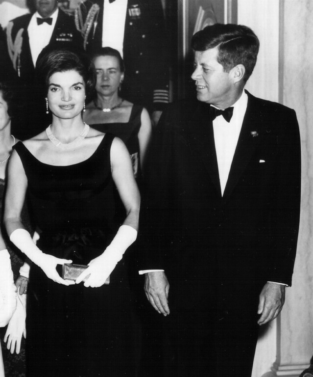. President Kennedy and Jacqueline attend a White House ceremony Feb. 19, 1963, in Washington.  National Archive/Newsmakers
