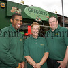 Lewis Benitez, Marie Lenoard and Ciaran Matthews staff members from Gregorys Fruit and Vegetable shop Railway Avenue Newry. 07W20N35