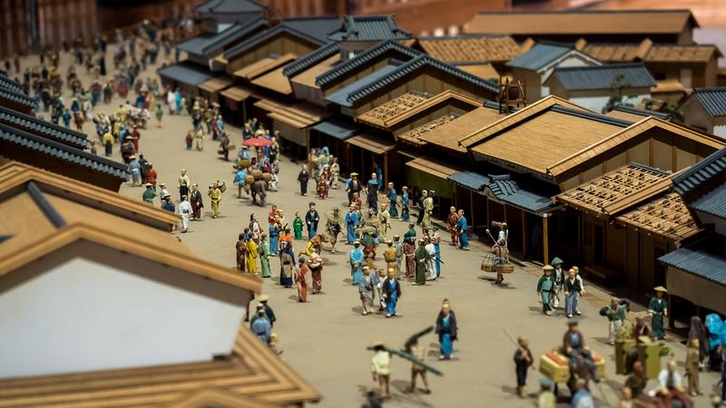 Diorama at Edo-Tokyo Museum