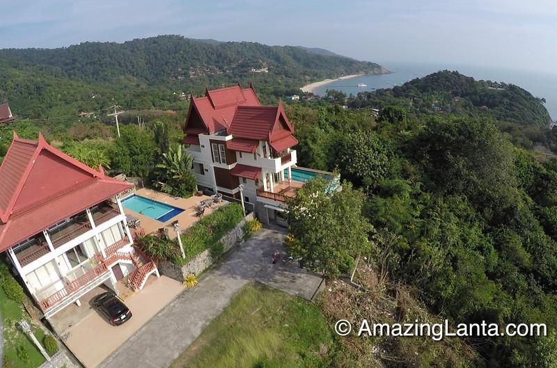 Sea View Pool Villa Aerial View