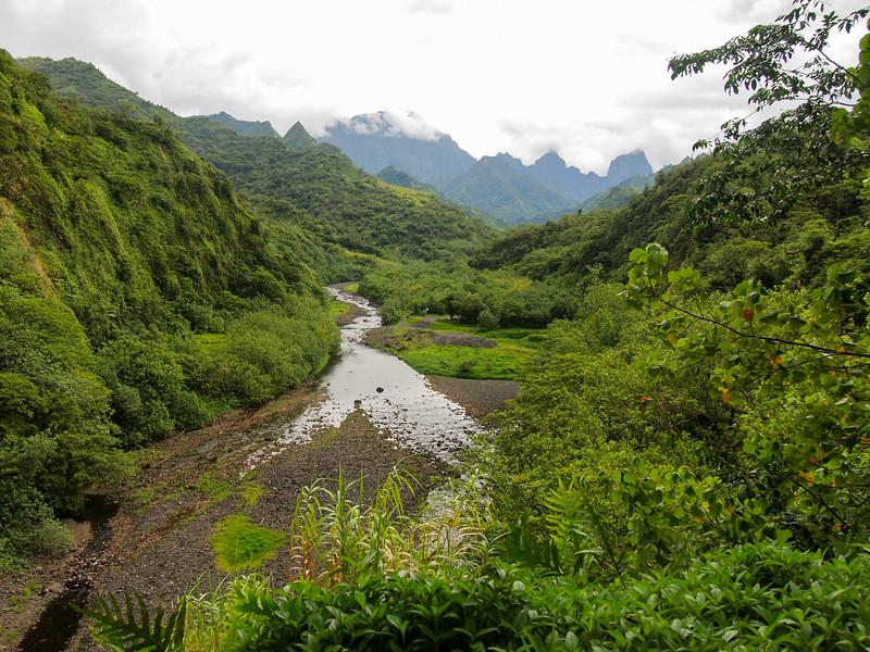 In Tahiti's interior