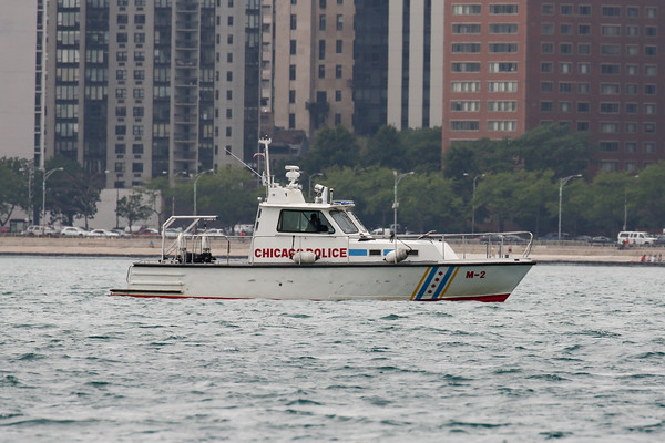 CPD & Coast Guard vessels at the air show 2015