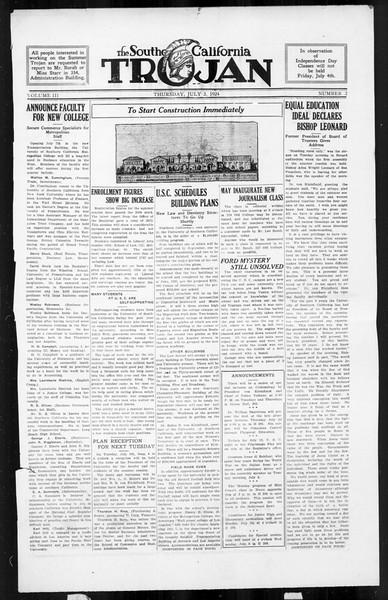 The Southern California Trojan, Vol. 3, No. 2, July 03, 1924