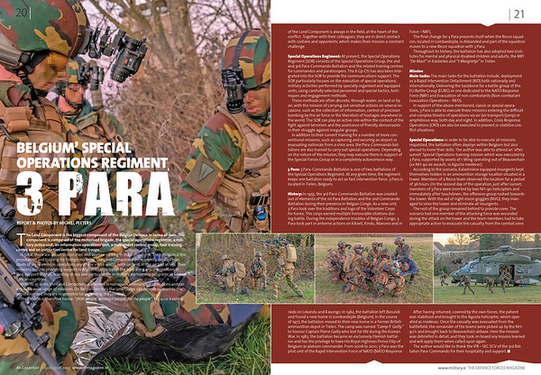In the field with 3 PARA - Special Operations Regiment