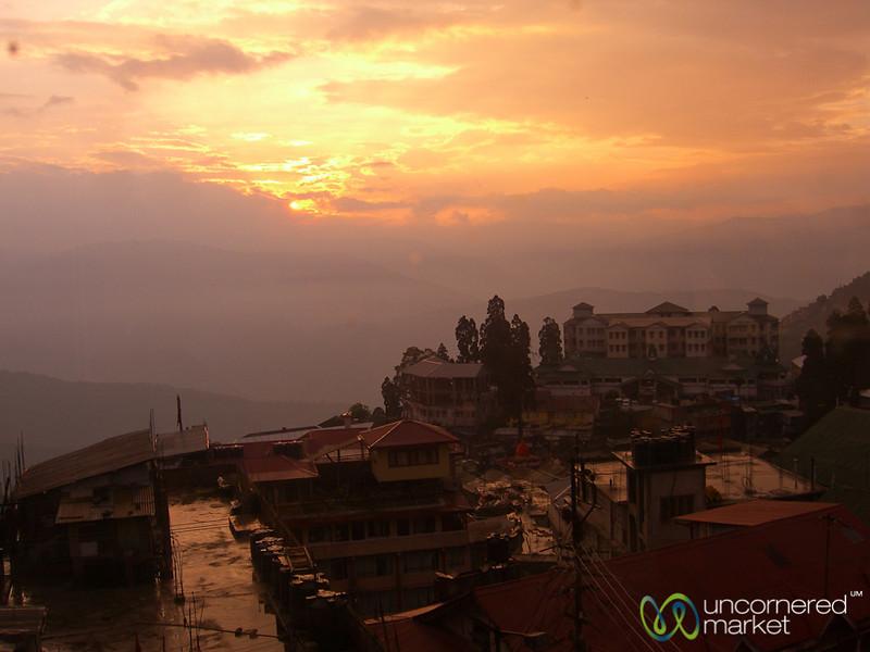 The Sun Sets in Darjeeling, India