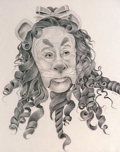 """Courage"" (graphite)  by Patricia Caviar"