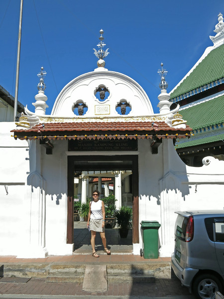 Aliza at Kampung Kling Mosque