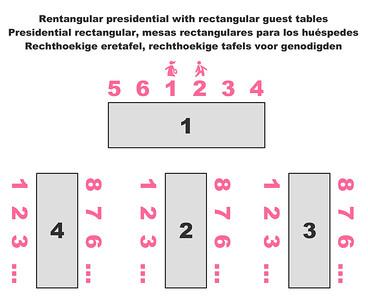 70140 Rectangular presidential with rectangular tables