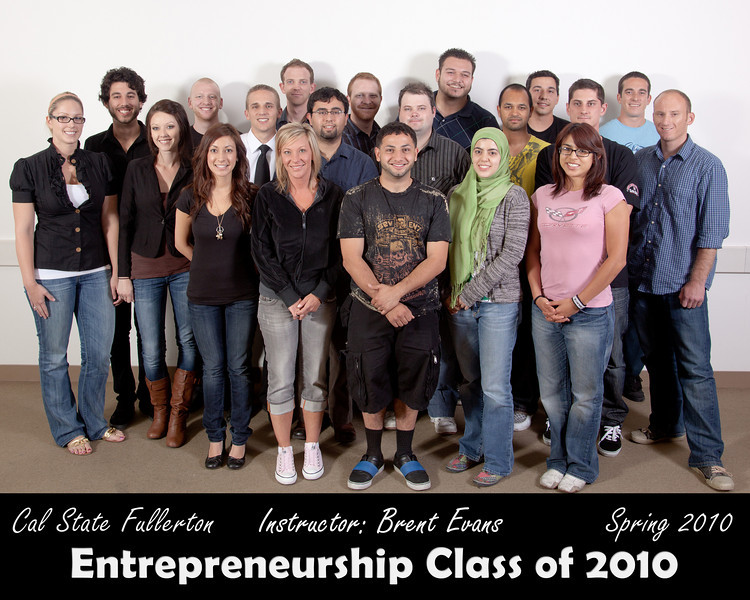 CSUF Entrepreneurship Class - Spring 2010
