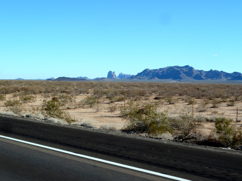 Arizona's Saddle Mountain as I whizzed past.