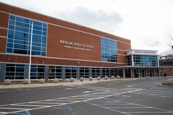 02/21/20 Wesley Bunnell | StaffrrSections of the exterior of Berlin High School that show exposed HVAC equipment.