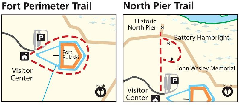 Fort Pulaski National Monument (Fort Perimeter & North Pier Trails)