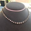 9.20ctw Victorian Riviere Diamond Necklace 25