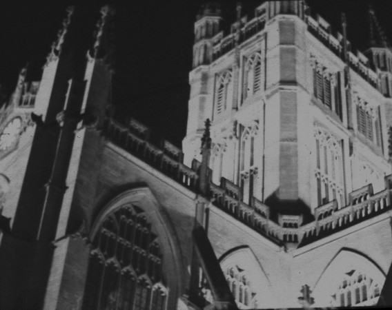 Detail of Bath Abbey. Image derived from bad scan of a negative - haven't made a proper print yet.