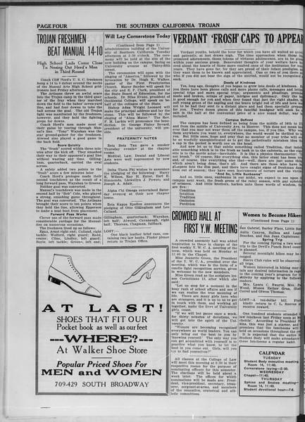 The Southern California Trojan, Vol. 11, No. 4, October 14, 1919