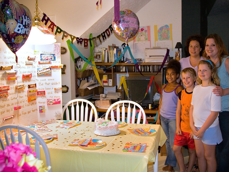 A little party set up in our kitchen.  Everything was prepared by Jenn's friend, Lisa, and her daughter, our kids good friend, Brianna.