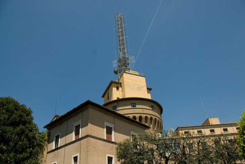 The tower at Radio Vatican in Vatican City Gardens