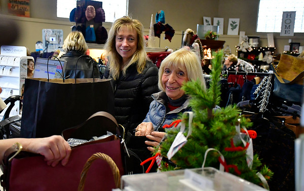 11/24/2018 Mike Orazzi | Staff Margaret Murphy of Avon and her mother Evelyn Anderson of Berlin while shopping at Good Cause Gifts in Berlin on Saturday.