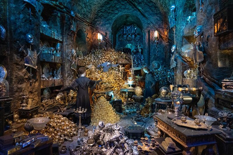 Gringotts vault set at Warner Bros. Studio Tour London