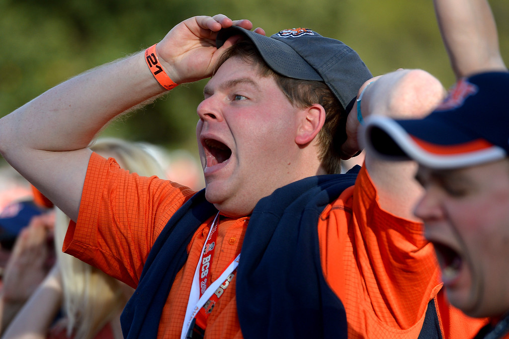 . Matt Buchanan has fun at an alumni party before the BCS game at the Rose Bowl, Monday, January 6, 2014. (Photo by Michael Owen Baker/L.A. Daily News)