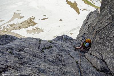 d'r Lugabeitl alpine climbing at Liechlkopf, Kleinwalsertal